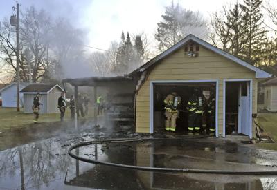 West Goshen garage fire