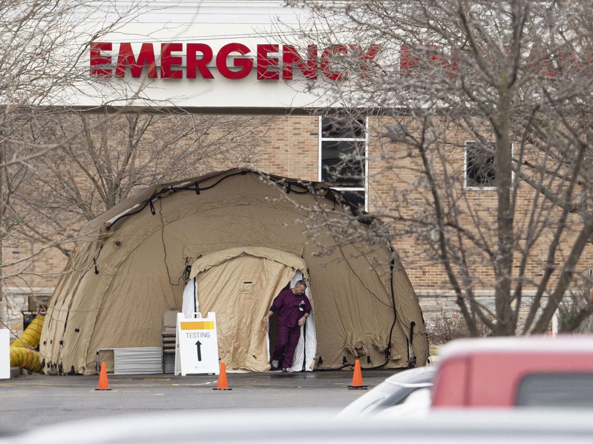 Goshen Hospital's COVID tent