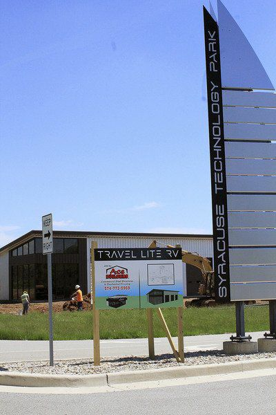 Travel Lite RV buildings going up in Syracuse's industrial park