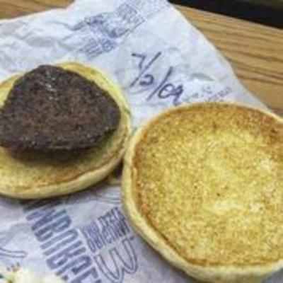 DINING A LA KING: Celebrating a 10-year-old McDonald's hamburger