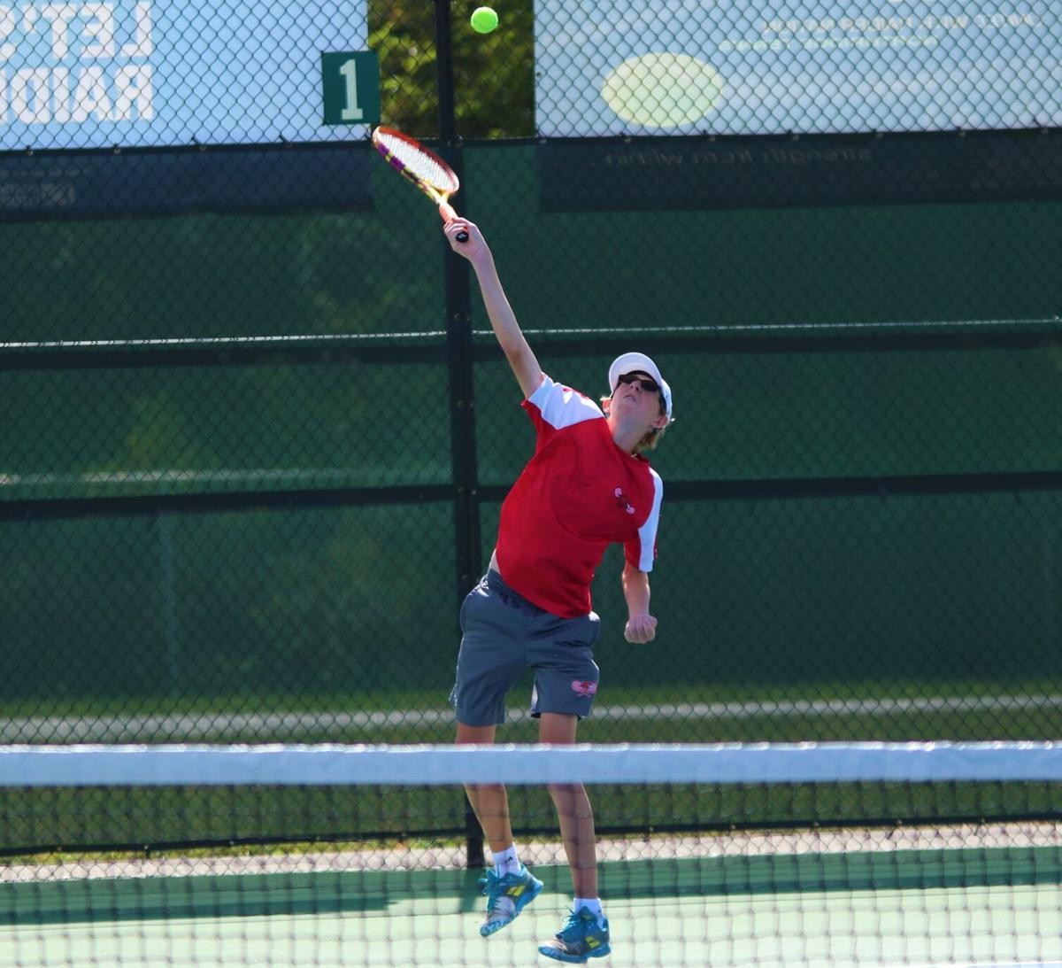 Isaac Stahly Gohen NLC boys tennis tourney 9 25 2021.JPG