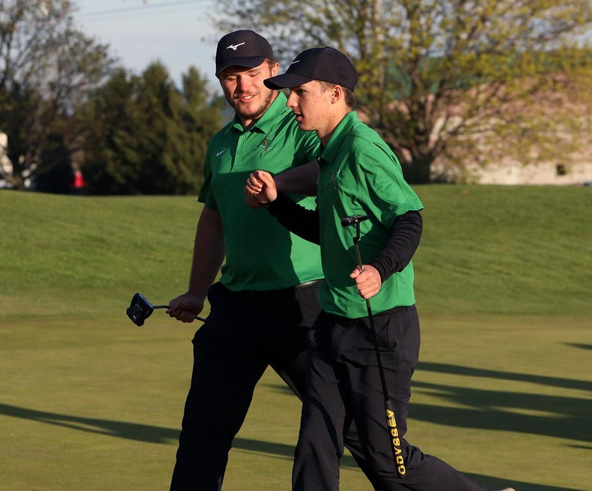 Tyler Frazier Brock Reschly Northridge boys golf 4 17 2021