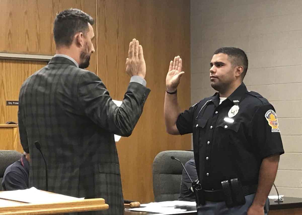 Officer Gerardo Mejia sworn in