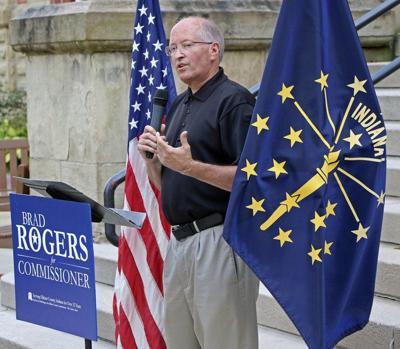 Former Elkhart County Sheriff Brad Rogers announces commissioner bid