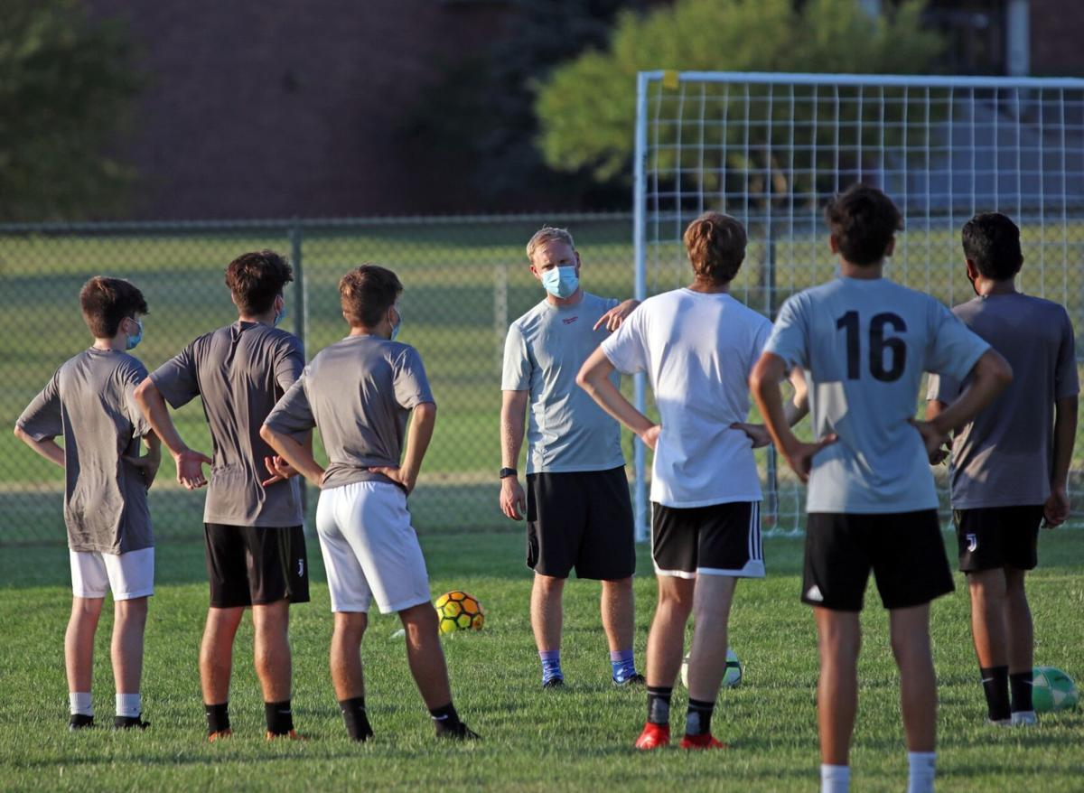 Northridge boys soccer practice 7 16 2020