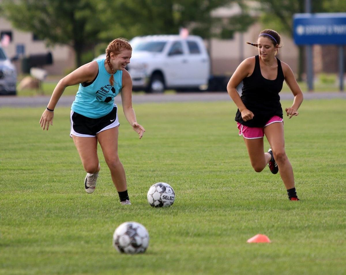 NorthWood girls soccer practice 7 16 2020