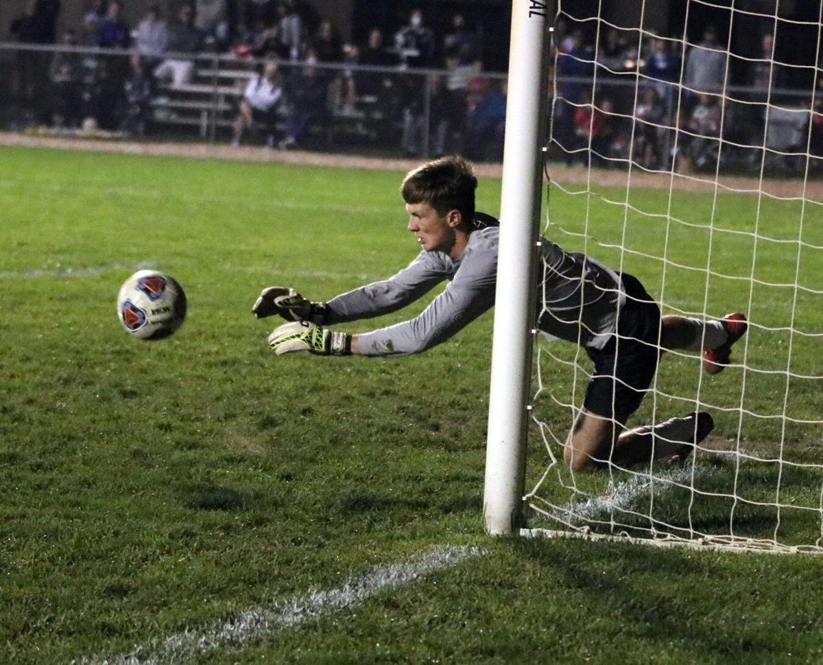 Drew Litwiller PK save Westview boys soccer 10 10 2020