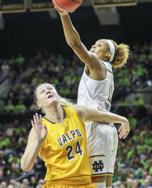 WOMEN'S BASKETBALL: Westview grad Hales, Valpo turned back by No. 1 Notre Dame