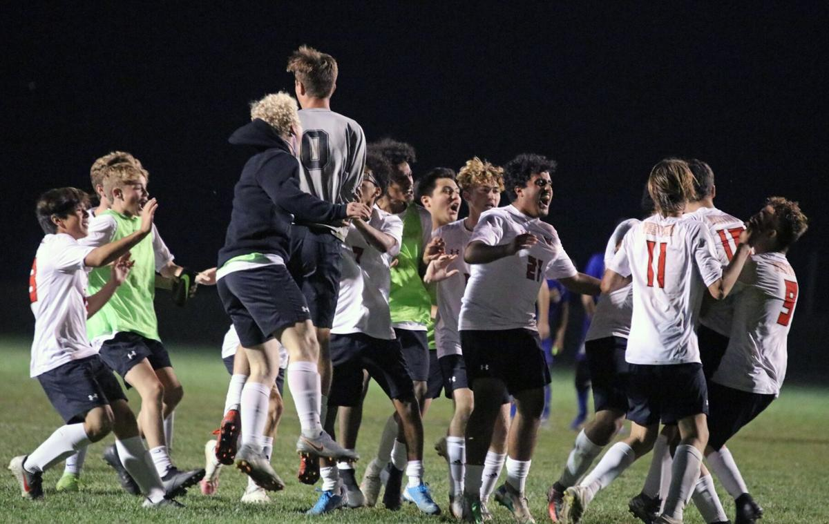 Westview boys soccer sectional title celebration 10 10 2020