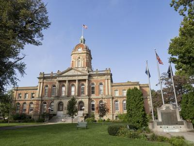 NEW Elkhart County Courthouse stock photo