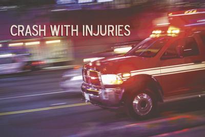 Crash with injuries stock photo