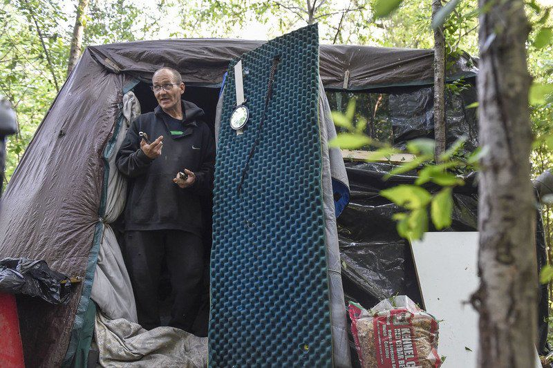 Few left in Goshen's homeless camp