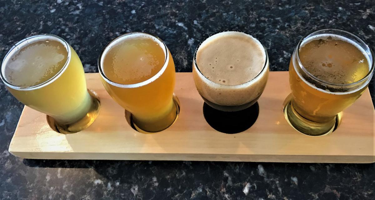 A flight of Harry Stuff beers is $10.JPG