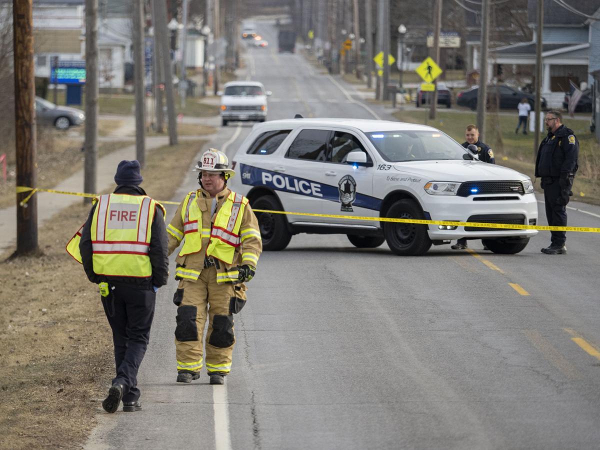 Semitractor-trailer crashes in Goshen