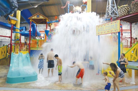 Visitors Are Splashed At The Base Of The U201cBarnyard Playhouse Waterfun  Adventure Areau201d At The Wana Waves Water Park When It Opened In October 2007.