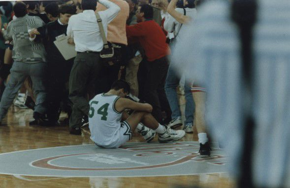 Concord 1990 Mutch center court post title game