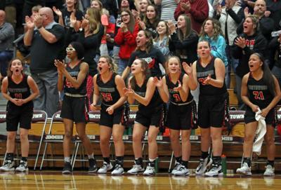 NorthWood girls basketball bench reaction