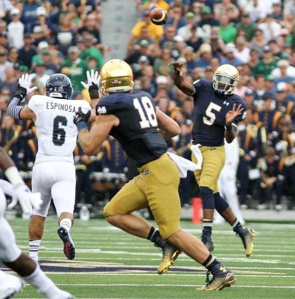 NOTRE DAME FOOTBALL: Irish start spring practice, quarterback battle between Everett Golson and Malik Zaire