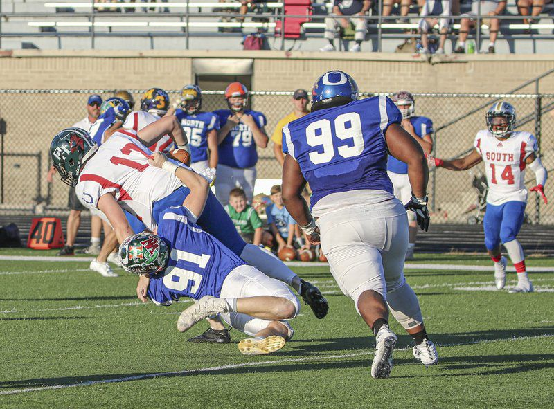 PREP FOOTBALL: Yoder's pick sparks North All-Star victory