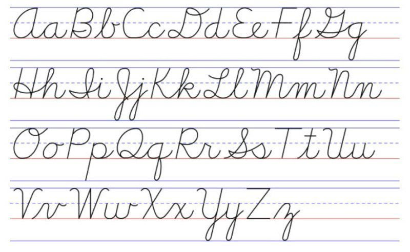 capital letters in cursive chart ensures schools may teach cursive writing news 13741