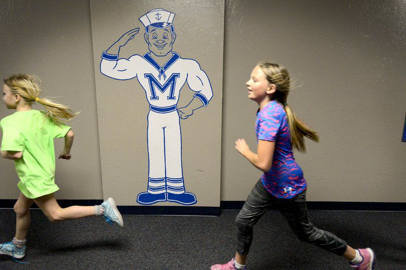 Students run the halls of local schools to get fit