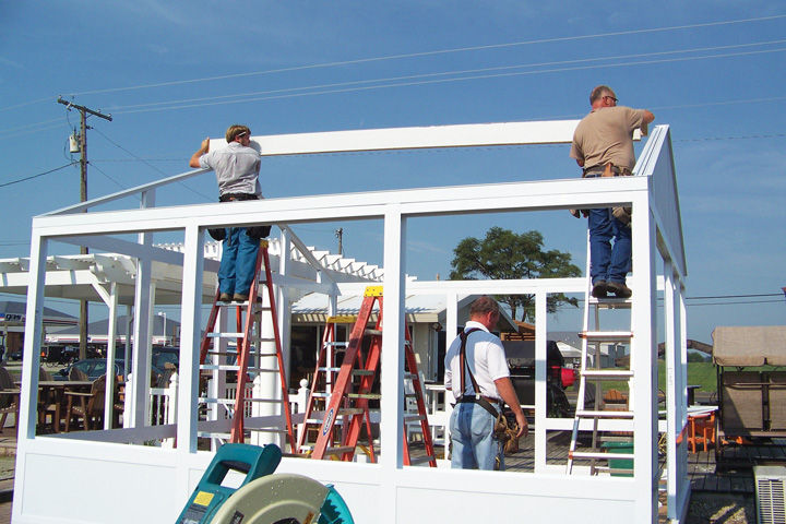 Dean Raber, Left, Dave Fry, On Ladder, And Wilbur Miller Spent A Day  Demonstrating How Quickly They Can Assemble The Patio Enclosures Sold At Raber  Patio ...