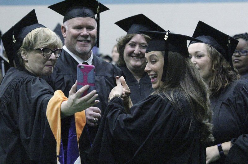 Graduation walk culminates Middlebury woman's 3-year climb toward degree