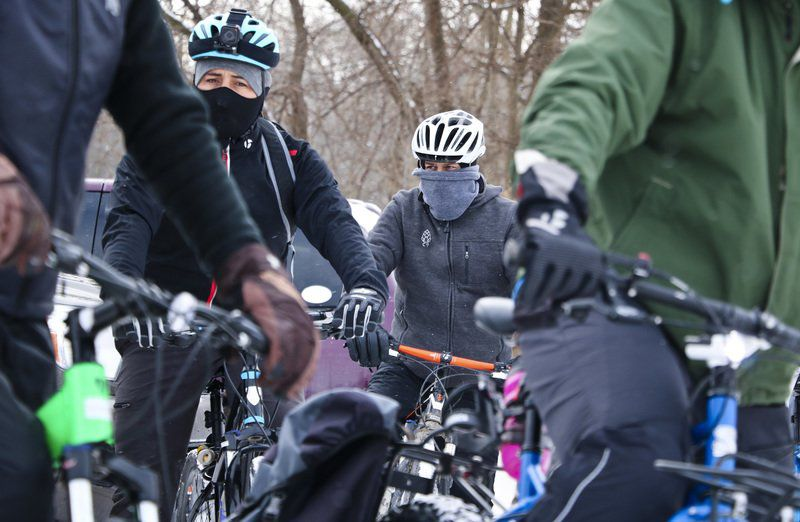 Bicyclists start the year with chilliest Ice Cycle yet