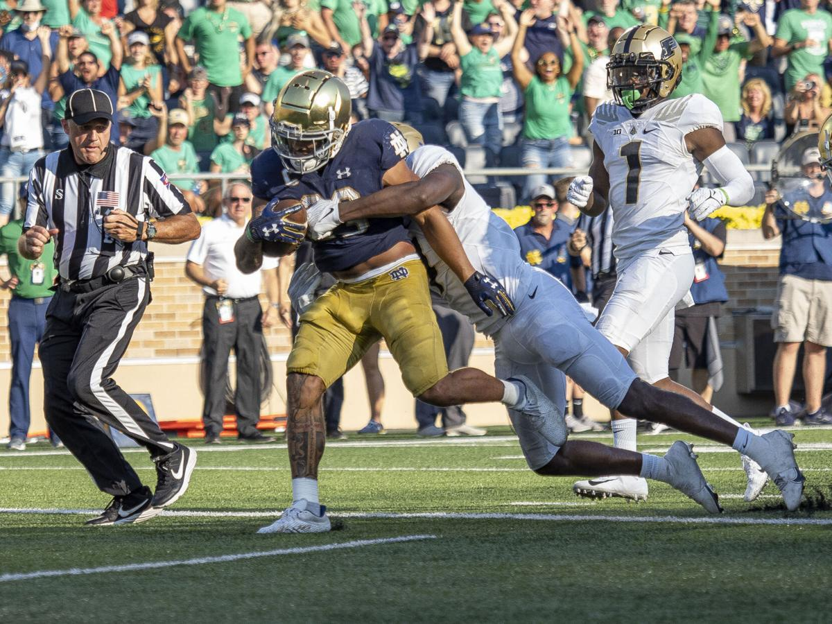 COLLEGE FOOTBALL: SEP 18 Purdue at Notre Dame - Kyren Williams second touchdown