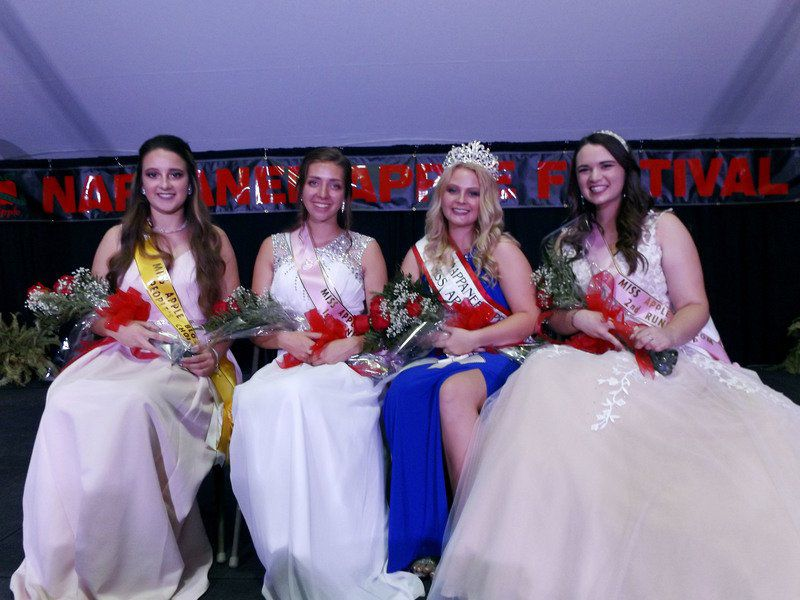 Miss Apple Blossom brings message of unity