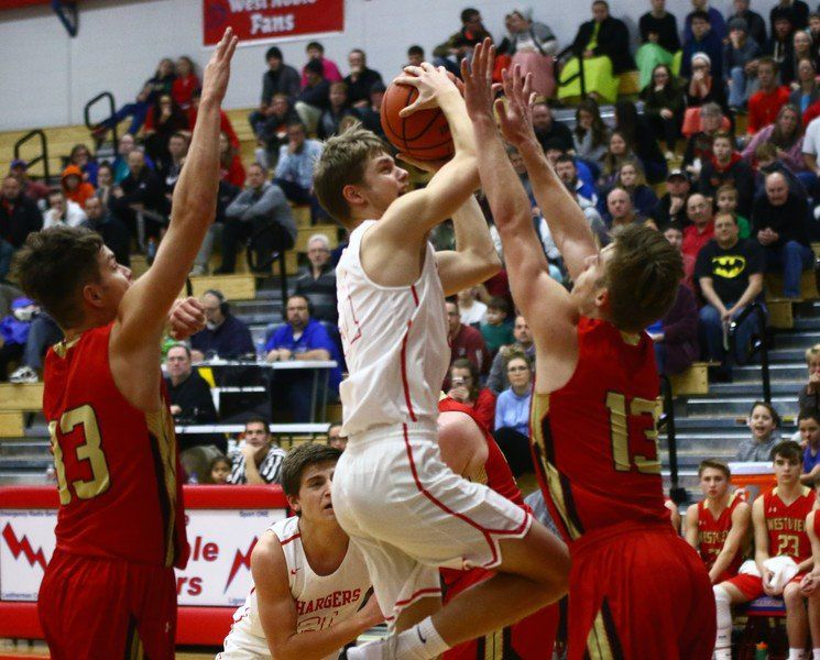 Image result for west noble chargers basketball kpc news