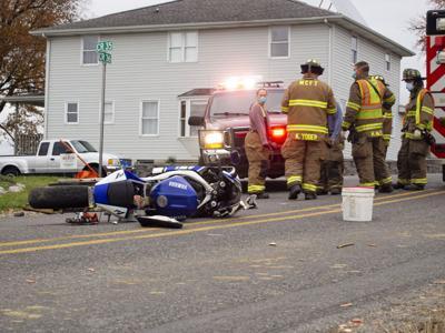 POLICE NEWS: Crash injures motorcyclist, woman