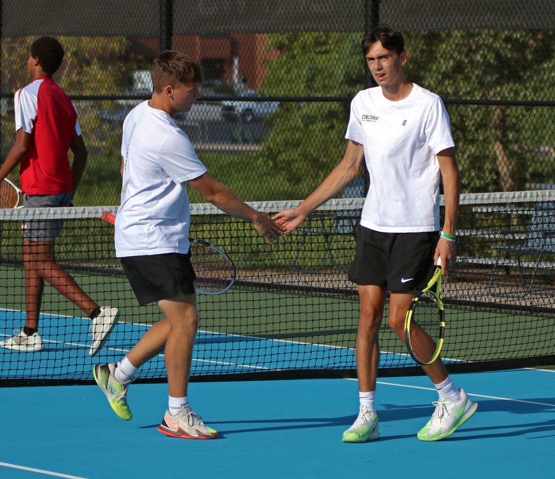 Concord 1 doubles vs. Goshen boys tennis 9 15 2021