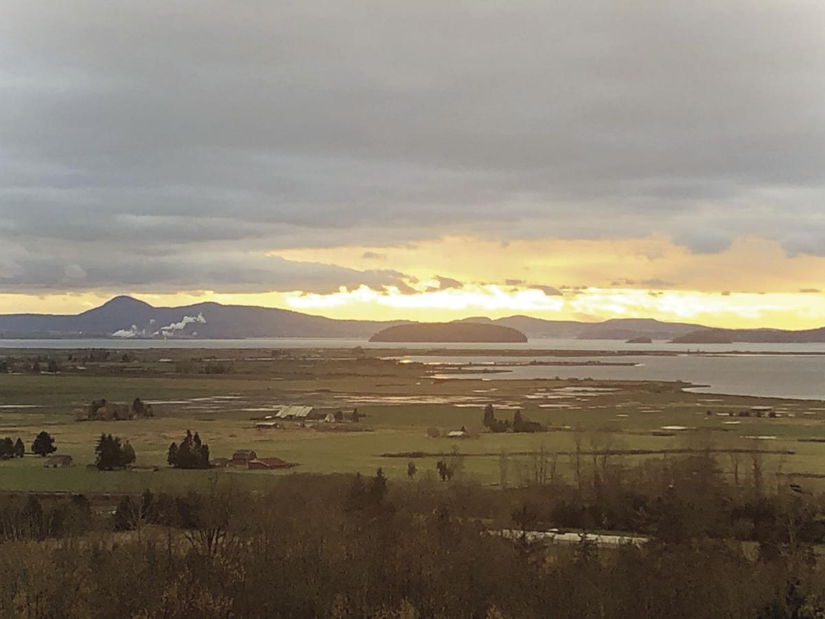 Sunset over Samish Bay