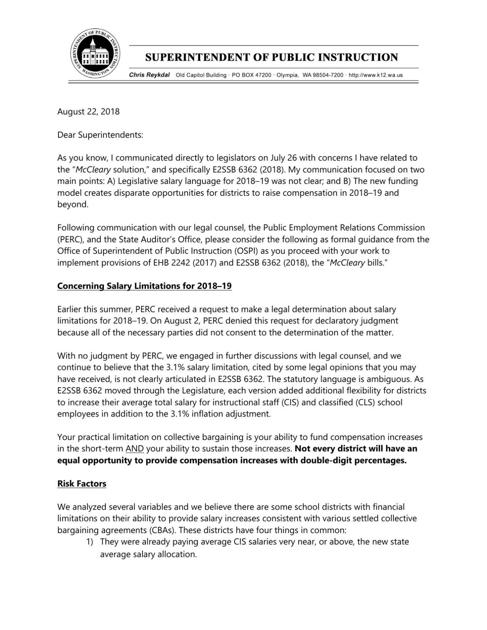 Aug  23 letter from state superintendent | | goskagit com