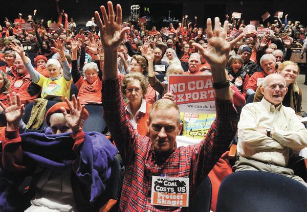 Coal terminal scoping meeting draws 1,000