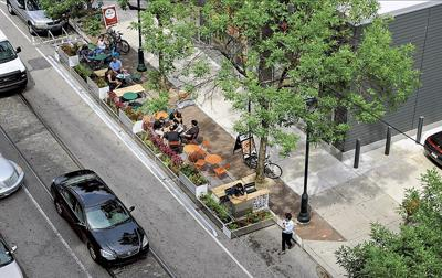Stanwood parklet example