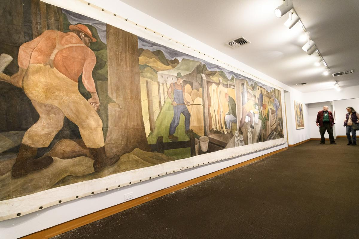Cumming mural displayed