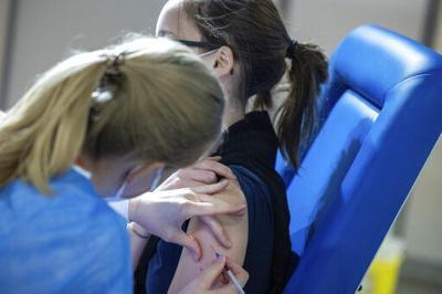 COVID-19 vaccine file photo stock image