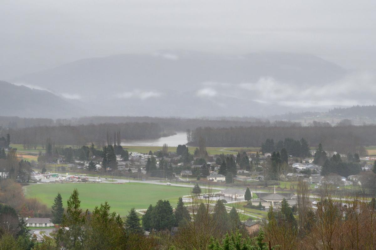 Wet weather over Skagit