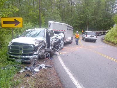 Overall traffic lighter; collisions back up traffic on Hwy. 9