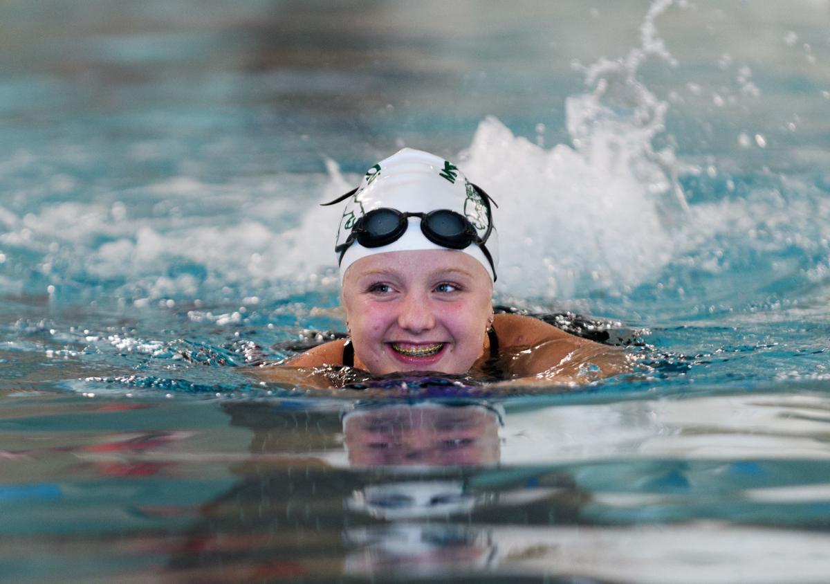 MVHS girls swim at new YMCA