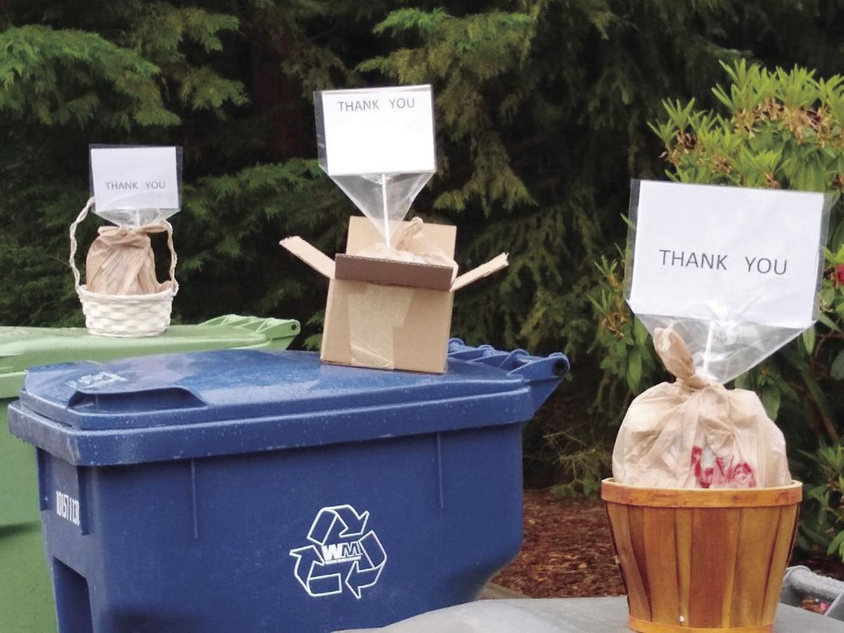 thank you bins by Patricia Krause