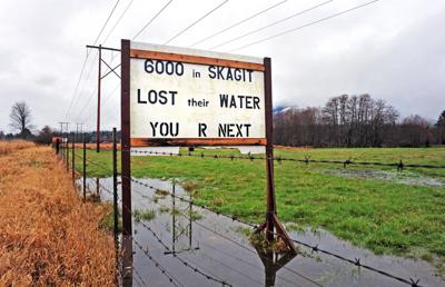 Water protest sign