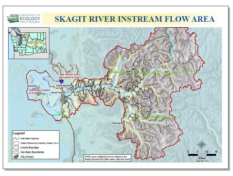 Skagit River instream flow rule map
