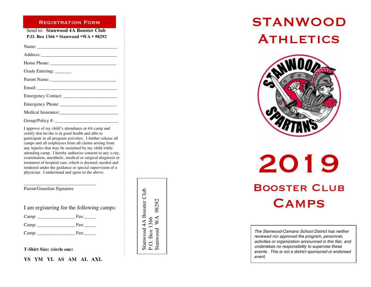 2019 Spartan booster camp registration info