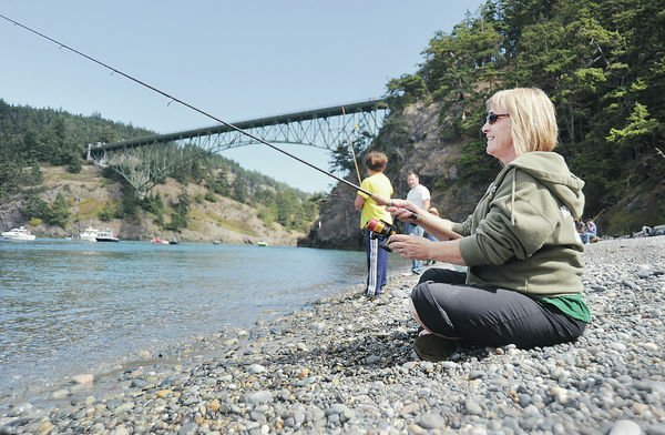 Deception pass a big draw for labor day visitors all for Salmon fishing bay area