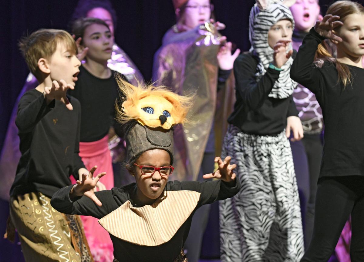 Disney films Conway school play rehearsal