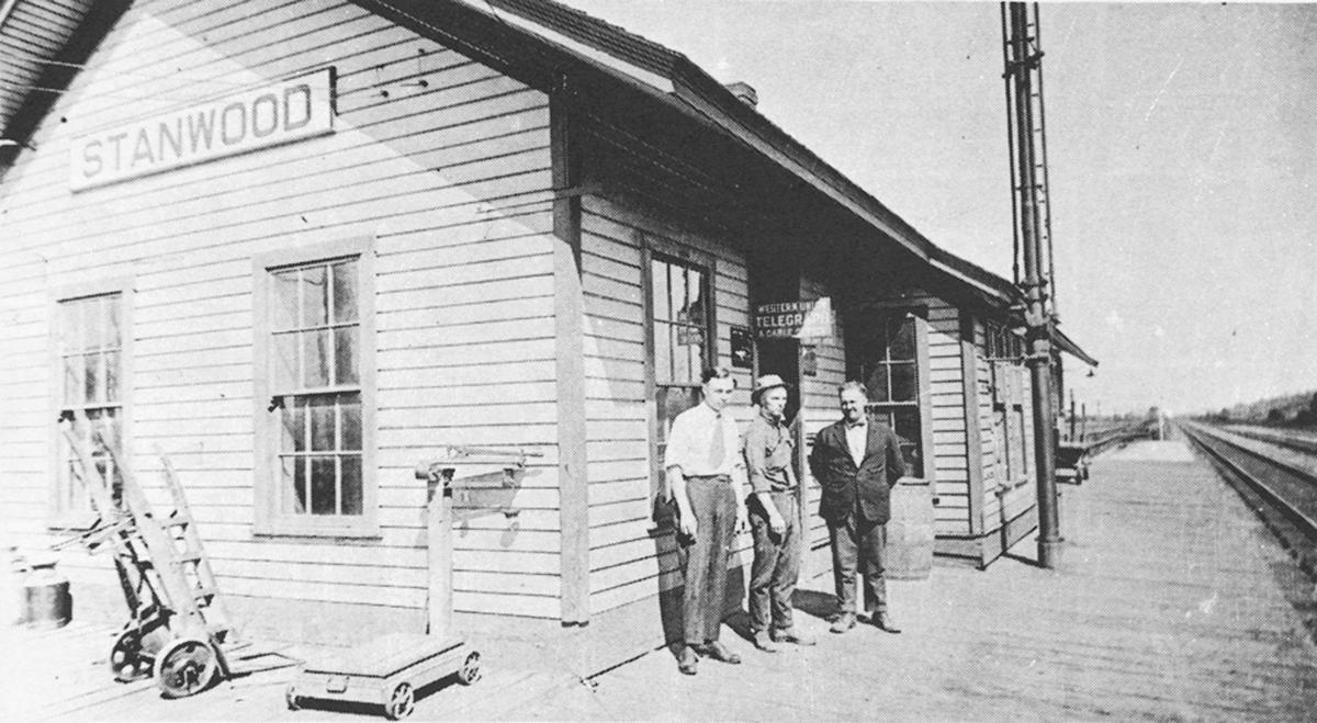 Stanwood train depot ~1919