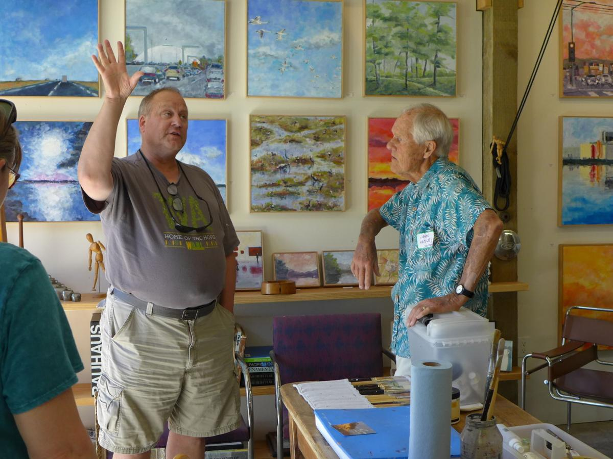 Visitor with John Hadley